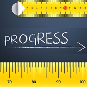 tape measure below progress